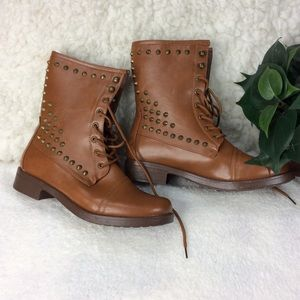 Studded BooAndrea Caramel  Studded Boots Size 8.5